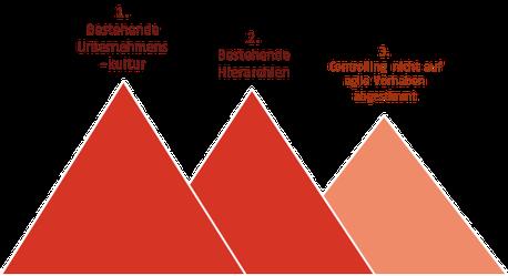 Die 3 wichtigsten Hemnisse für Agile